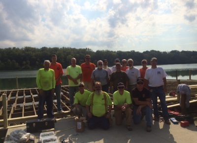 Local Building Trades Refurbish Columbus Park Fishing Pier