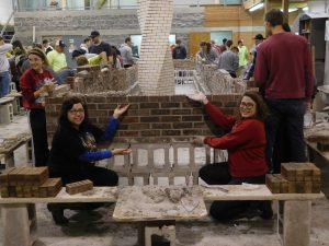 OSU architectural students attended the 10th annual IMI-OSU bricklaying workshop, where they learned about masonry.