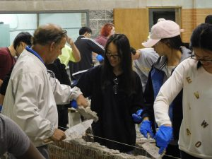 Representative Bill Hulet and apprentices from the Southern Ohio Regional Training Center volunteered to instruct and assist the OSU students.