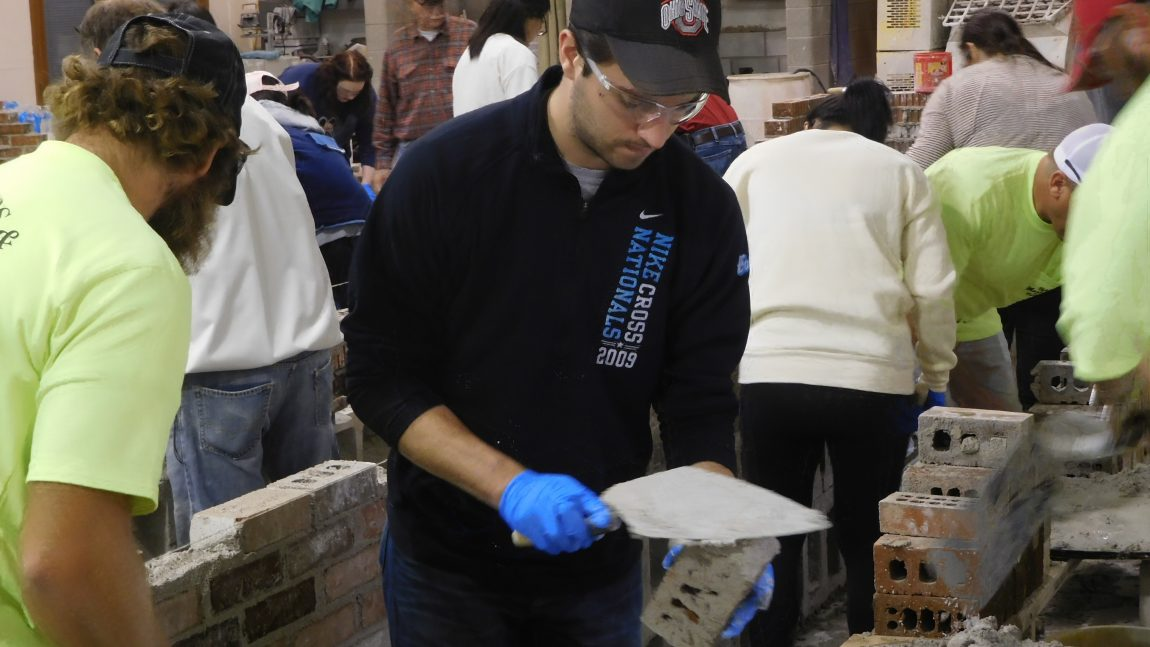 OSU Architectural Students Experience Bricklaying Workshop